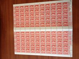 France 1011 25 Francs Marianne De Muller Feuille De 100 - Full Sheets