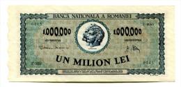 Roumanie Romania Rumänien 1.000.000 Lei 1947 UNC # 8 - Rumania