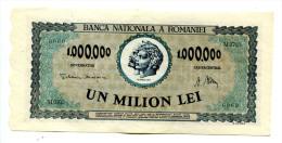 Roumanie Romania Rumänien 1.000.000 Lei 1947 AUNC # 9 - Romania