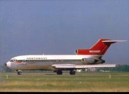 Aviation Postcard-413 -NORTHWEST ORIENT  AIRLINES -Boeing 727 - 1946-....: Moderne