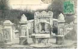 COCHINCHINE:N°24:Un Tombeau De Mandarins Anamites.1906.Timbre Indohine Française... - Cartes Postales
