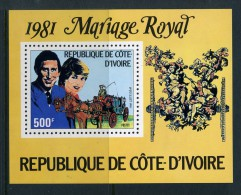 Ivory Coast 1981 Prince Charles & Princess Diana Wedding MS MNH - Ivory Coast (1960-...)