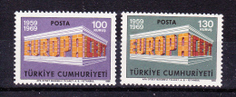 TURKEY  1969  Europa CEPT  , Y&T  #  1891/2   , Cv  3.00  E  , ** M N H , V V F - Europa-CEPT