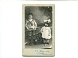 Photo De Deux Enfants PIERROT ET GISELE LE 19 MAI 1908 Par A.MIGNON - Photographie