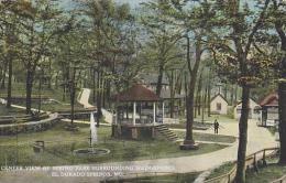Missouri El Dorado Springs Center View Of Spring Park Surroundin