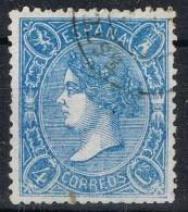 Sello 4 Cuartos Isabel II 1865, Fechador ESTELLA (Navarra), Num 75 º - Used Stamps