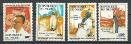 "Niger YT 710 à 713 "" Artistes Nationaux "" 1986 Neuf** - Niger (1960-...)"