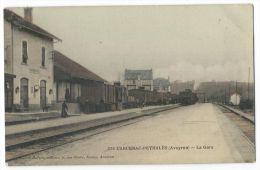 CARCENAC-PEYRALES (Aveyron) - La Gare-  Arrivée D´un Train - Animée - N°225 - Colorisée - France