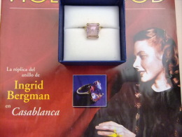 EL ANILLO DE DIAMANTE ROSA  (reproduccion) DE INGRIID BERGMAN En La Pelicula  CASABLANCA - Anillos