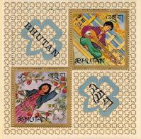 Bhutan,  Scott 2013 # 90Ef,  Issued 1967,  S/S Of 2,  NH,  Cat $ 7.50, Scouts - Bhutan