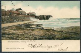 1904 Sweden Varberg Strandpromenaden Postcard  Used To Grand Hotel Trollhatten - Sweden