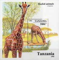 Naturschutz 1995 Tanzania Block 279 ** 3€ Giraffe Camelopardalis M/s Bf Blocchi WWF Nature Bloc Fauna Sheet Of Tanzanie - Tanzania (1964-...)