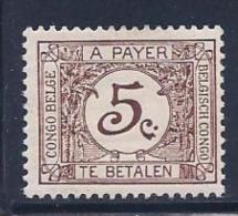 Belgian Congo, Scott J1 Mint Hinged Numeral, Postage Due, 1923 - Congo Belge