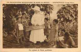Mai13 1722 : Léopoldville  -  Franciscaines Missionnaires De Marie En Mission  -  Enfants Africains De L'école Gardienne - Kinshasa - Léopoldville