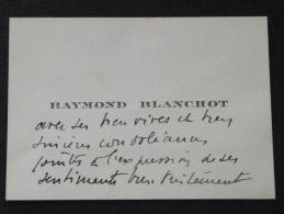03 LAPALISSE - Carte De Visite - Avis De Condoléance - Raymond Blanchot - A VOIR ! - Visiting Cards