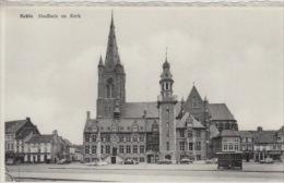 Eeklo  Stadhuis En Kerk      Scan 4659 - Eeklo
