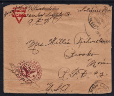 D0035 USA 1919, American Army Free Forces Mail, Censored - United States