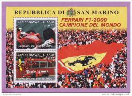 X SAN MARINO 2000 FOGLIETTO FERRARI F1 2000 CAMPIONE DEL MONDO NUOVO - San Marino