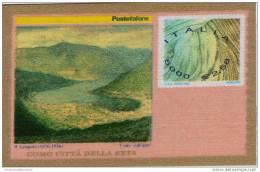 ITALIA 2001 FRANCOBUSTA CON FRANCOBOLLO IN SETA NUOVO - 6. 1946-.. Repubblica