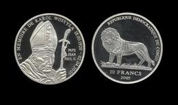 CONGO . JEAN - PAUL II . En Mémoire De Karol WOJTYLA .   10 FRANCS . 2005 . - Congo (Republic 1960)