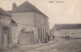 89 ORMOY  Rue Du Pré Animée Enfants POMPE à Essence MOTRICINE Et La BUVETTE Timbré1936 - France