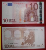 GERMANIA FRANCIA GERMANY FRANCE 10 EURO 2002 TRICHET SERIE X 67018734803 E004G3 UNC FDS - 10 Euro