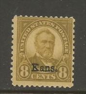 US  1929  Sc#666  8c Kansas Overprint  MNH**  2016 Scott Value $145 - Unused Stamps
