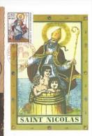 Carte Maximum Saint Nicolas 27 Novembre 1993  Croix Rouge - Laos