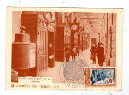 Cp , 75 , PARIS , Hôtel Des Postes Vers 1900 , Journée Du Timbre 1979 , Vierge - Sin Clasificación