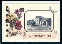 85  BRETIGNOLLES  ...... Gare Souvenir Au Fusain Creation Moderne Série Limitée Et Numerotée 1 à 10 ... N° 2/10 - Bretignolles Sur Mer