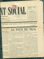 """Yvert N°107 II , Affranchissant Journal  Entier """" Le Relevement  Social Daté De Juin 1926  -  Aa157 - 1900-29 Blanc"""