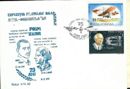 Cover, Romania, Phil. Exp. AVIA-COSMOFILA '85, 75 Years From The First Airplane Aurel Vlaicu & First Jet Plane H. Coanda - Airplanes