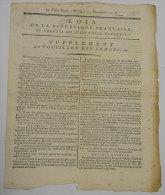 1797 Journal Supplément Au Postillon Des Armées Révolution Loi De La RF Arretes Directoire Exécutif Messidor An V N°4 - Newspapers