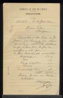 5530 - CHEMIN DE FER  DE L'ETAT - DINAN PV 1912 - - France