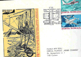 Cover, Romania, Airmail, 75 Years From The First Raid Bucuresti-Craiova, FARMAN IV, Reverential Flight W/BN-2 - Airplanes