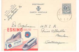 2 ENTIERS PUBLIBEL PANTOUFLES ESKIMO N° 1076 Et 1299 - Werbepostkarten