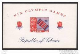 X LIBERIA 1968 XIX OLYMPIC GAMES FOGLIETTO NUOVO PRE HISPANIC SCULPTURE - Estate 1968: Messico