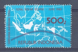 Mfm1156 ZONSVERDUISTERING SOLAR ECLIPSE SPACE SONNENFINSTERNIS INDONESIA 1983 PF/MNH - Sterrenkunde