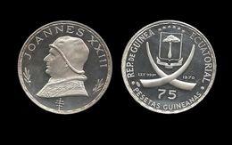 GUINEE EQUATORIALE . JOANNES XXIII .  75 PESETAS . 1970 . - Equatorial Guinea