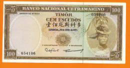 # TIMOR 100 Escudos 25/4/1963 P28 AUNC - Timor