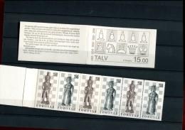 219335114 schaken faroer eilanden   posttfris mint never hinged postfrisch ohne falz  booklet yvert c77