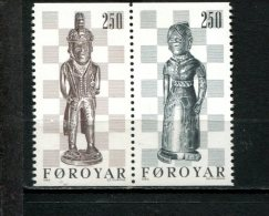 219 335 258 schaken faroer eilanden   posttfris mint never hinged postfrisch ohne falz  yczert 76 77