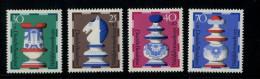 219 336 228 schaken west duitsland    posttfris mint never hinged postfrisch ohne falz  yvert 592-595