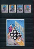219 336 927 schaken somalia  posttfris mint never hinged postfrisch ohne falz  yvert 531-534 + bf 37
