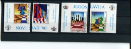 219 337 560 schaken yugoslavia gebruikt used  yvert 2312 -2315 ongetand