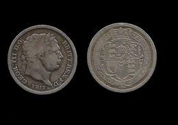 GRANDE - BRETAGNE .  GEORGE III . ( 1760. 1820 ) . SHILLING . 1817 . - 1816-1901 : Frappes XIX° S.