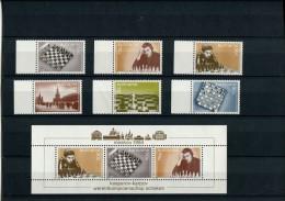 219 338 201 schaken suriname  posttfris mint never hinged postfrisch ohne falz  bf 43  + 969-974