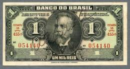 Brésil P 131a (1944) 1 MIL REIS - UNC - Série 455 N° 054140 RARE!!! - Brazil