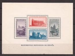 ES847-L3620TARO.España.Sp Ain Espagne.HOJA BLOQUE MONUMENTOS HISTORICOS,1938 ( Ed. 847**) Sin Charnela. LUJO - Otros