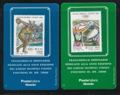 ITALIA  2000 - Giochi Olimpici SYDNEY = Le 2 Più RARE - Serie Compl. - COPPIA - Tessere Filateliche